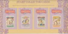 Stamps Australia Stage & Screen set of 4 collector cards pack postmarked