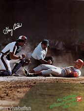 "VINTAGE ORIGINAL GARY CARTER MONTREAL EXPOS 7up PROMOTIONAL POSTER 25"" x 19"" in"
