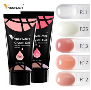 Venalisa Crystal Gel NEW PolyGel Nail Gel Enhancement UV & LED 30g Gift NEW 2020