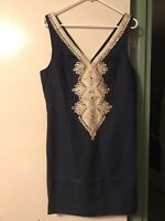 NWT Lilly Pulitzer Junie Shift True Navy Dress, Sz 10  $198