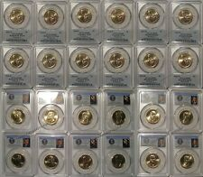 2016 P & D Presidential Dollar 12 Coin Set $1 PCGS MS66 Position A & B