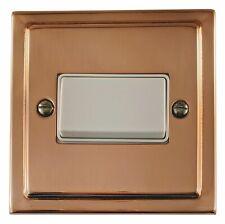 G&H TBC69W Trimline Bright Copper 1 Gang Triple Pole 10A Fan Isolator Switch