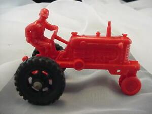 Vintage MARX Plastic Farm Sears Happi Time Playset Man on Red Tractor 1959