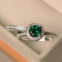 925 Sterling Silver Natural Certified Handmade Emerald Oval Shape Ring