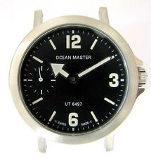UNITAS 6497 STAINLESS STEEL case with dial OCEAN MASTER and hands NOS swiss made