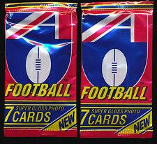 1992 Regina AFL unopened X 2 sealed packs each packet holds 7 mint cards pack