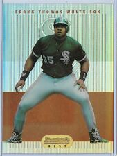 1995 Bowman's Best Baseball Frank Thomas Jumbo Refractor Box Topper Card # 65
