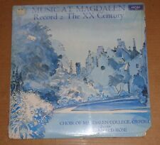 Bernard Rose - Music at Magdalen Record 2 THE XX CENTURY - Argo ZRG 722 SEALED