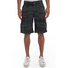 Unionbay Men's Survivor Cargo Shorts Black Camo Men Size 32 to 42 Pants Clothes