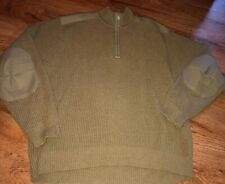 ORVIS shoulder elbow patch 1/4 zip sweater SIZE MEDIUM
