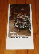 Original 1974 Harley Davidson FX-1200 FXE-1200 Motorcycle Sales Brochure