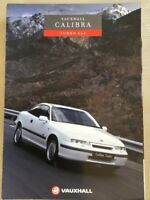 VAUXHALL CALIBRA TURBO 4 x 4 CAR SALES BROCHURE APRIL 1992
