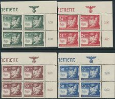 Stamp Germany Poland General Gov't Mi 059-62 Block 1940 WWII Nazi Era TR MNH