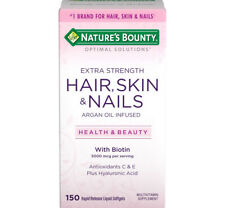 Nature's Bounty hair, skin and nails gummy Argan oil-infused with biotin 150 ct