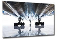 Leinwand Bild Flugzeug Oldtimer Abstrakt Fahrwerk Chrom Ready For Take Off XXL