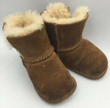 UGG Kids Erin Chestnut Small Booties Boots 2 3 Baby Shoes Classic Sheepskin