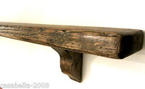 80CM SOLID RECLAIMED RUSTIC PLANK WOOD COUNTRY COTTAGE FARMHOUSE SHELF SHELVING