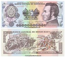 Honduras 5 lempiras 2008 UNC banconote P-91b