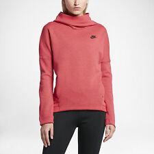 """Nike Women's Tech Fleece Pullover Hoodie """"Ember Glow"""" Pink Size S (844389 850)"""