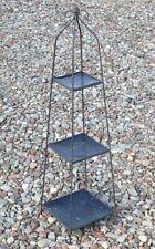 Wrought Iron 3 Tier Obelisk Garden Stand