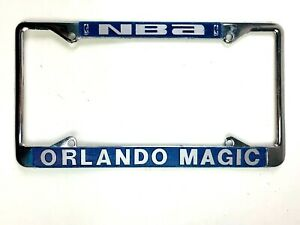 License Plate Frame Orlando Magic Basketball NBA Chrome and Blue Ready for Car