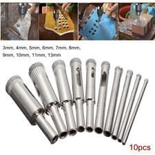 10Pcs Diamond Hole Saw Drill Bit Tool Set For Tile Glass Marble Ceramic 3-13mm