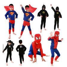 BATMAN SPIDERMAN Muscle Niños Niño Niños Disfraz Halloween Cosplay Suit Ropa
