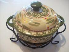 Temptations Old World Green 10 oz Covered Casserole Serving Bowl Baker @ cLOSeT