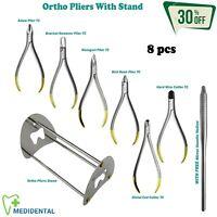 Orthodontie Pince Et Ciseaux Set (TC) Insert avec Socle Dentistes Instruments Ce