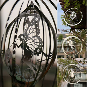 3D Metal Wind Chimes Rotating Fairy Wind Chimes Spinners Hanging Outdoor Decor