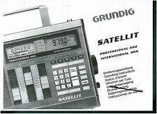 Grundig Bedienungsanleitung user manual für Satellit prof. / int. 400 Kopie