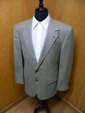 Mens Blazer Sport coat Jacket Bill Blass 42r 100% Wool  Golden Tan Plaid S#153