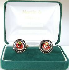 CHINESE DRAGON Cufflinks made from 100+ year coins from China in Black&Colours