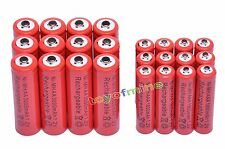 12 AA 3000mAh + 12 AAA 1800mAh Ni-Mh Rechargeable Battery Cell - MP3 RC Toy Red