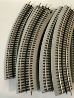 Lionel O Scale Set Of 8 O-36 Curved Fastrack with Black Center Rail #6-12015 B