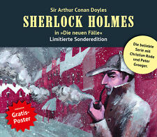 """Sherlock Holmes in """"Die neuen Fälle"""" - Sammlerbox (3 Hörspiele nach Wahl+Poster)"""
