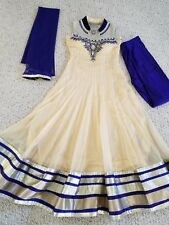women Indian pakistan long stone work anarkali dress size L