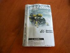 2005 SKI-DOO SNOWMOBILE OWNER'S MANUAL  (ZXtm SERIES..REVm SERIES)