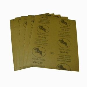 "10 PCS Wet And Dry Sandpaper Sand Paper Sanding Paper 240 Grit 9""x11"" Sandpapers"
