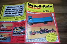 MODELL-AUTO 4/1982 - DDR-Modell VOLVO F 88 / FAUN ZUGMASCHINE HZ / KIBRI KRAN LT