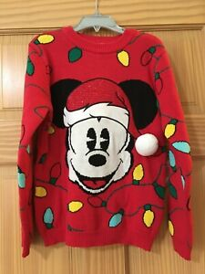 NEW Disney Store Mickey Mouse Holiday Christmas Sweater Boy Toddler 3,4