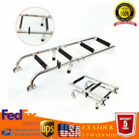 Telescopic Boat Ladder 4 Steps Stainless Steel Extension Folding Pontoon Ladder