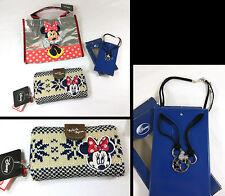Kit Busta Portafoglio in maglia e ciondolo Disney Minnie
