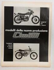 Pubblicità 1972 MOTO CIMATTI ARIETE KAIMAN MOTOR old advert publicitè werbung
