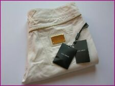 Dolce Gabbana Black 14 gold label logo plate White Jeans size 44 Italy/ US8
