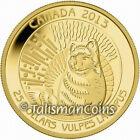 Canada 2013 Untamed Canada #1 Arctic Fox $25 1/4 Ounce .9999 Pure Gold Proof