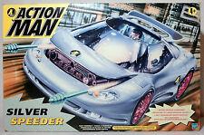 Hasbro Silver Speeder Driver ActionMan Action Figure