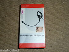 NINTENDO DS LITE WIRED OVER EAR HEADSET & MICROPHONE in Black DSL DSLite Boxed