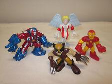 Lot of 4 MARVEL Super Hero Squad Figures Angel Iron Man Wolverine Iron Patriot