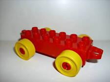 LEGO DUPLO 1 Anhänger für Auto Eisenbahn rot mit gelbe Räder 6760